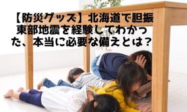 【防災グッズ】北海道で胆振東部地震を経験してわかった、本当に必要な備えとは?